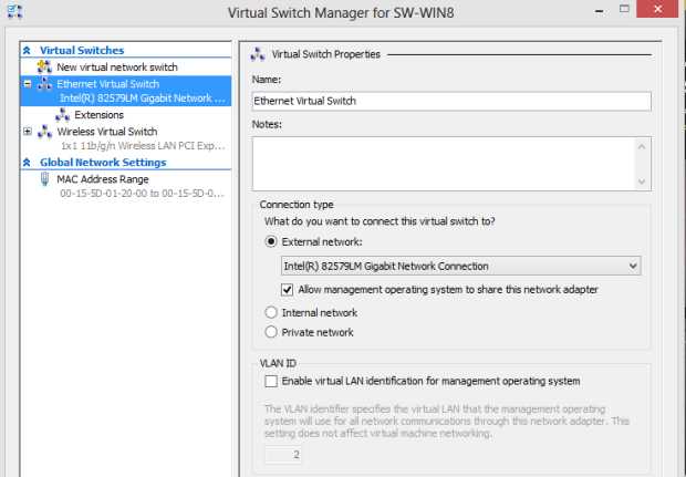 How your wired Virtual Switch should look.