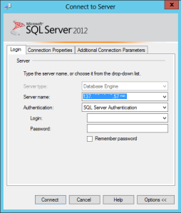 SQL Connection Dialog