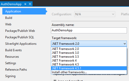 Change Framework Version