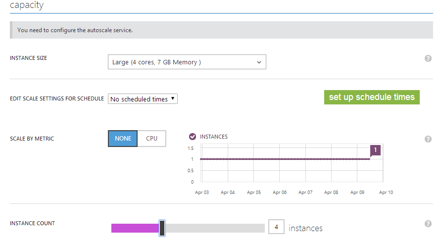 Azure Auto Scale Screenshot