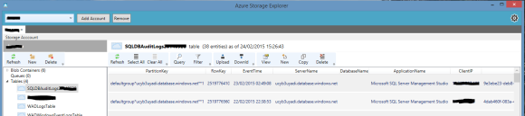Audit Log - Azure Explorer