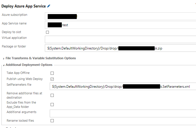 App Service Task