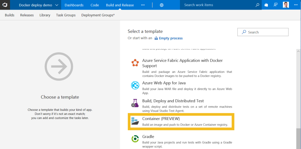Continuous Deployment for Docker with VSTS and Azure