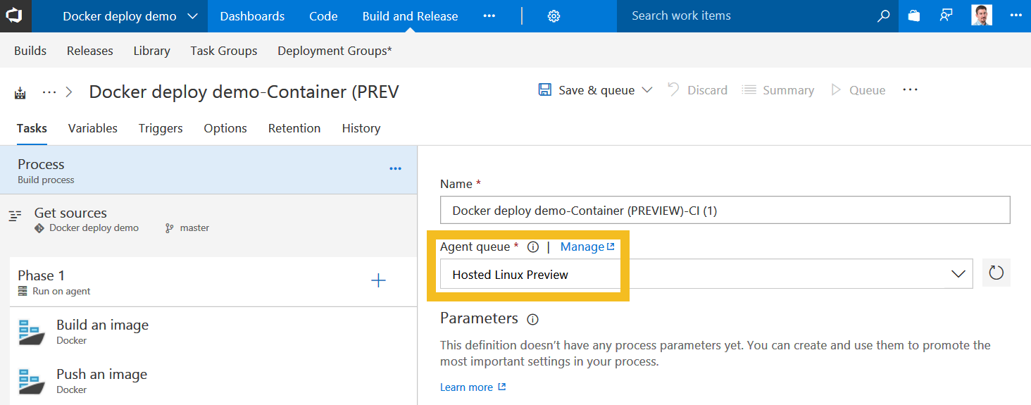Continuous Deployment for Docker with VSTS and Azure Container