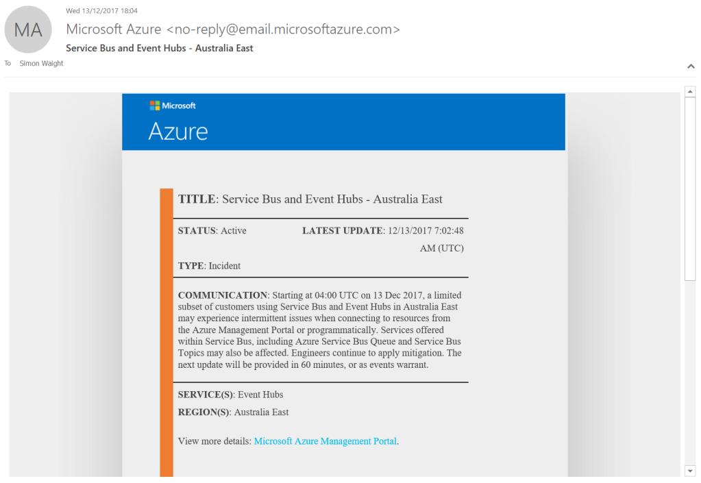 Notice Email