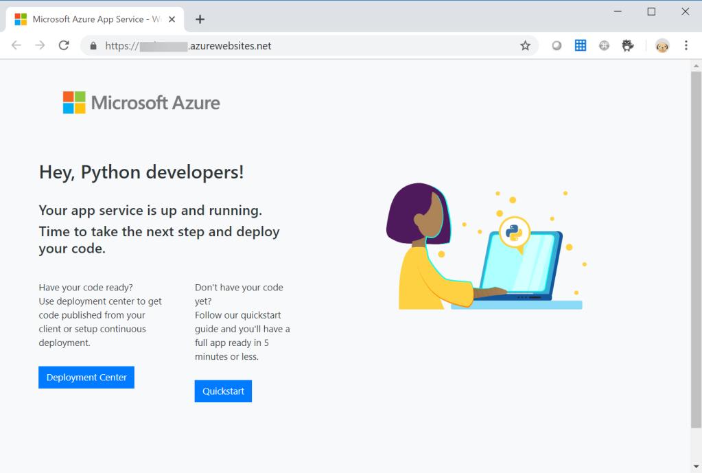 Default Python Holding Page