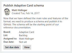 Adaptive Card Sample
