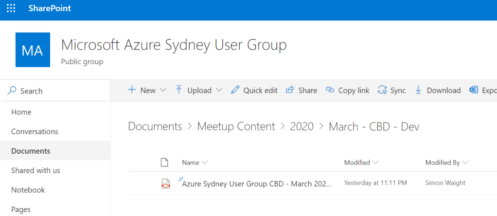 Anonymous file share - step 3 - SharePoint Document Library Folder