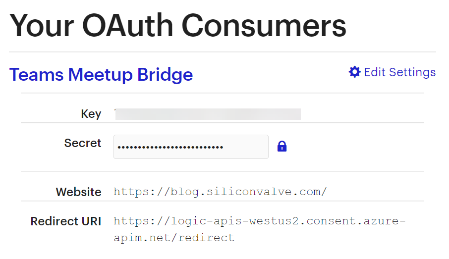 Adding OAuth2 support to your Meetup API Custom Connector for Azure Logic Apps