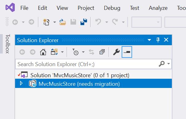 MVC Music Store - needs migration