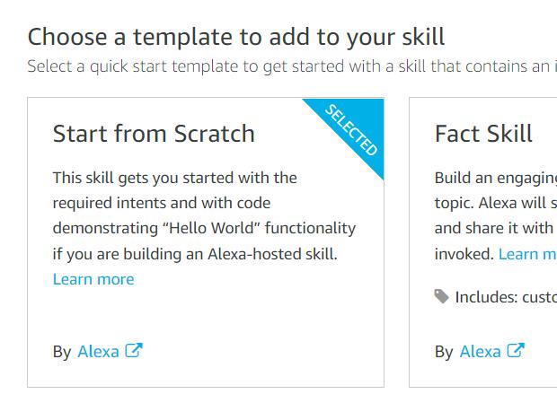 Alexa Skill Template - Start from scratch